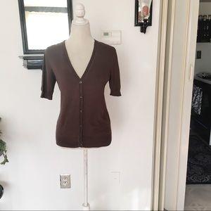 Ann Taylor Short Sleeve Button Down Cardigan